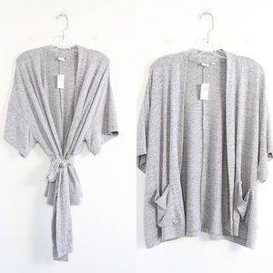 New GAP knit open cardigan oversized belted pocket